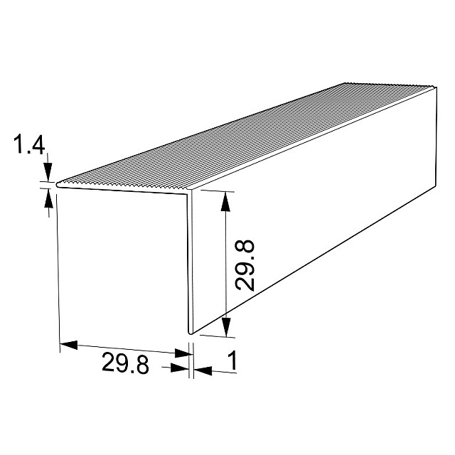 STAIR NOSINGS PROFILE 30x30